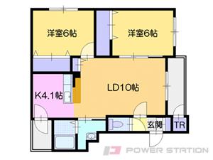 札幌市清田区美しが丘1条8丁目01賃貸マンション間取図面