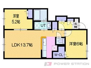 小沢2LDKアパート図面
