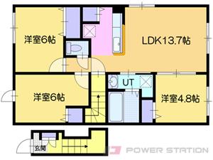 小沢3LDKアパート図面