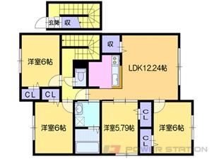 栗山4LDKアパート図面